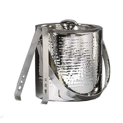 Elegance-Hammered-6-Inch-Stainless-Steel-Ice-Bucket