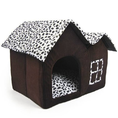 Luxury-High-end-Double-Pet-House-brown-Dog-Room-Cat-Bed-55-X-40-X-42-Cm