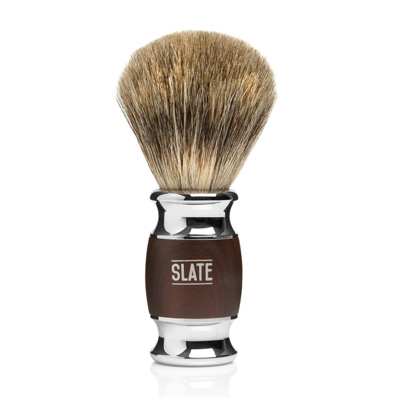 Pure-Badger-Shaving-Brush-by-Slate-Shave--22mm-Wide-Knot---Faux-Rosewood-Handle---High-Quality-Hair-and-Bristles-for-the-Best-in-Wet-Shaving
