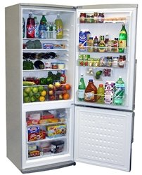 8. 13.8 cu. Ft. Counter-Depth Bottom-Freezer Stainless Steel Refrigerator from Summit