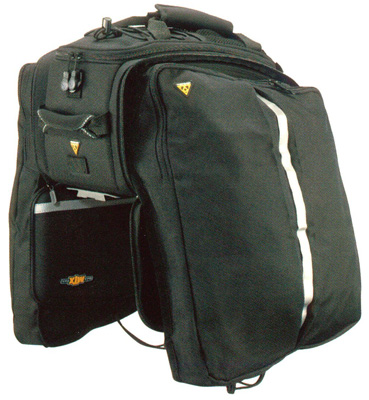 4. MTX Trunk Bicycle Bag with Rigid Molded Panels by Topeak