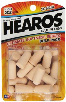 9. 20 Pairs of Ultimate Softness Series Foam Earplugs from Hearos