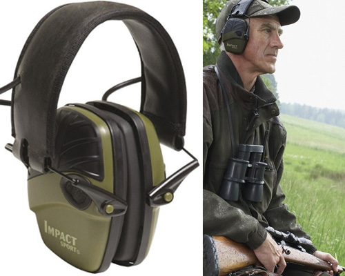 1. Impact Sport OD Electric Earmuff by Howard Leight