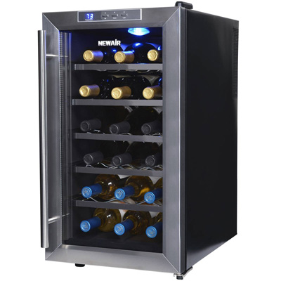 2. NewAir AW-181E Space Saver 18 Bottle Thermoelectric Wine Cooler