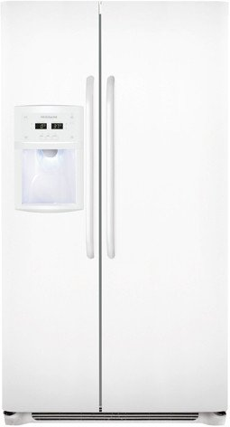 10. Pearl White 23 Cu. Ft. Counter-Depth Side-by-Side Refrigerator by Frigidaire