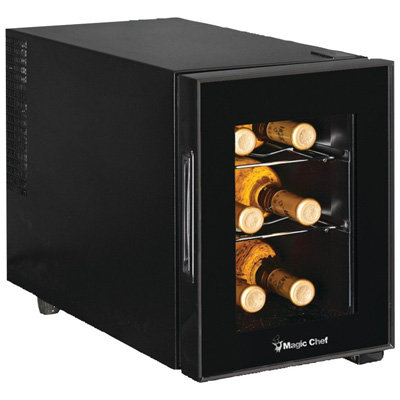 9. Magic Chef MCWC6B 6-Bottle Wine Cooler