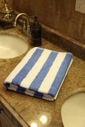 2. Utopia 100% Cotton Beach Towel in Cabana Stripe
