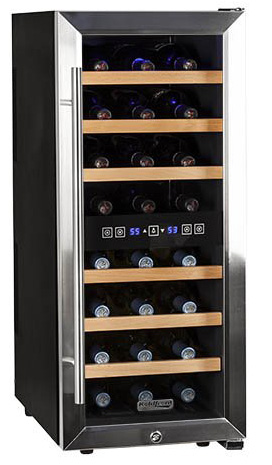3. Koldfront 24 Bottle Free Standing Dual Zone Wine Cooler