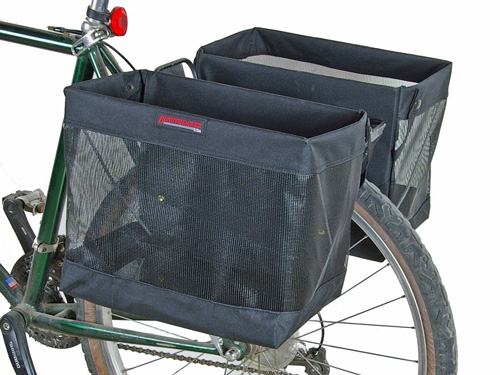 5. Pair of Bicycle Grocery Pannier Cycling Rack Basket by Bushwhacker
