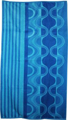 8. Northpoint Kerala Oversized Double Jacquard Plus Velour Beach Towel