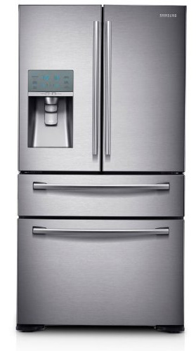 6. Stainless Steel French Door Refrigerator with FlexZone Drawer from Samsung