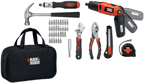 6. Black & Decker Lithium-Ion Screwdriver and Project Kit