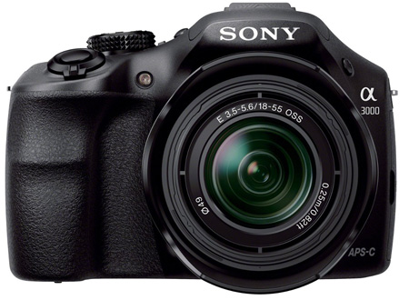 3. Sony A3000 Mirrorless Digital Camera with 18-55mm Lens