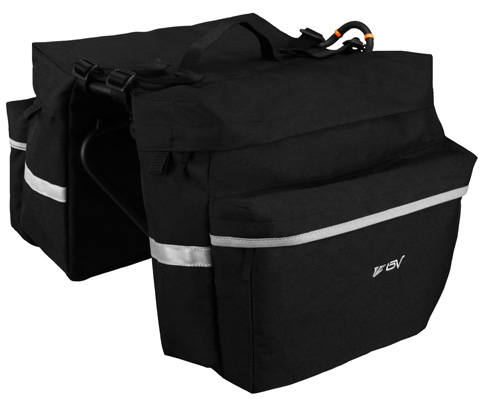 7. BV Bicycle Panniers with Carrying Handle and Adjustable Hooks