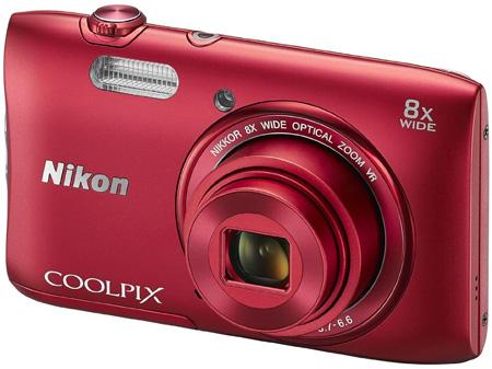 6. Nikon COOLPIX S3600 20.1 MP Digital Camera