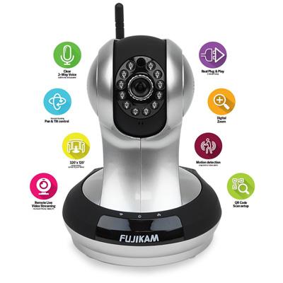 1. Fujikam FI-361 HD, Wifi, Video Monitoring, Surveillance, security camera