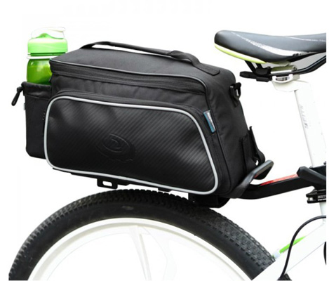10. Bicycle Frame Pannier Rack Tube Bag