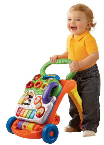 1. VTech Sit-to-Stand Learning Walker, Best Baby Walkers