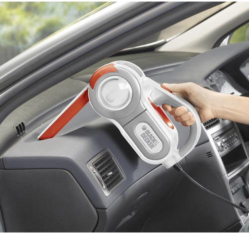 9. Black & Decker PAV1200W 12-Volt Cyclonic-Action Automotive Pivoting-Nose Handheld Vacuum Cleaner, Best Car Vacuum