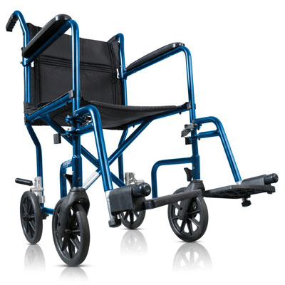 8. Hugo Portable Transport Wheelchair with Detachable Footrests