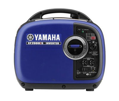 1. Yamaha EF2000iS 2,000 Watt 79cc OHV 4-Stroke Gas Powered Portable Inverter Generator, CARB Compliant, Blue