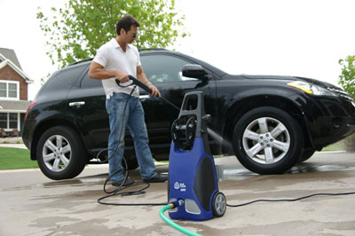 2. AR Blue Clean AR383 1,900 PSI 1.5 GPM 14 Amp Electric Pressure Washer with Hose Reel