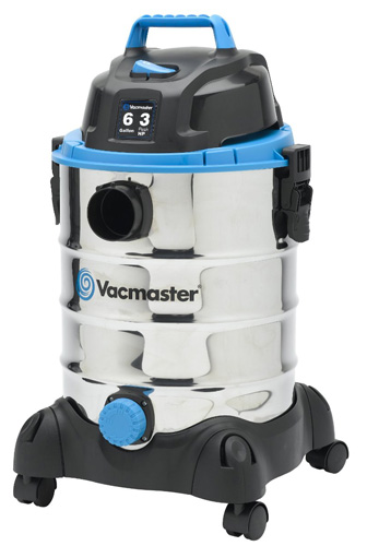 3. Vacmaster VQ607SFD Stainless Steel Wet/Dry Vacuum, 6 gallon, 3 Peak HP Motor