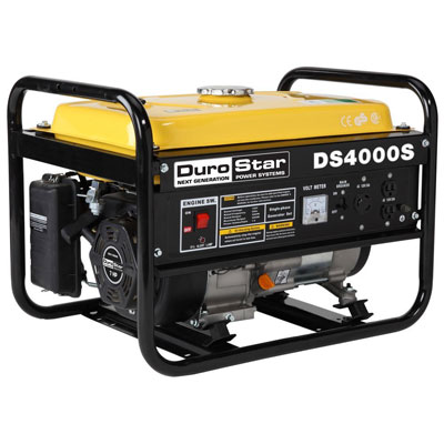 3. DuroStar DS4000S 4,000 Watt 7.0 HP OHV 4­Cycle Gas Powered Portable Generator