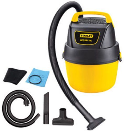 6. Stanley SL18125P-1 1-Gallon 1.5 Peak Portable Poly Series Horsepower Wet or Dry Vacuum Cleaner