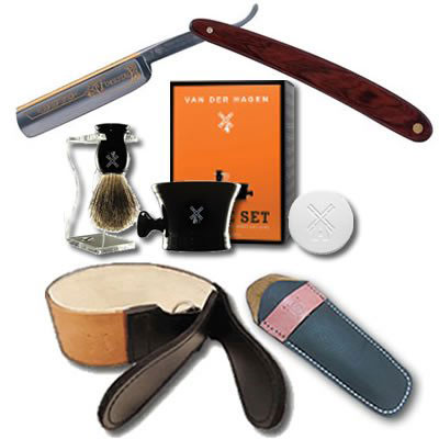 10. DOVO Forestal 5/8 Cocobolo Straight Razor Luxury Shave Set