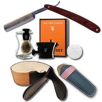 10. DOVO Forestal 5/8 Cocobolo Straight Razor Luxury Shave Set
