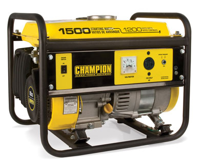 9. Champion Power Equipment 42436 1500­Watts Portable Generator, CARB Compliant