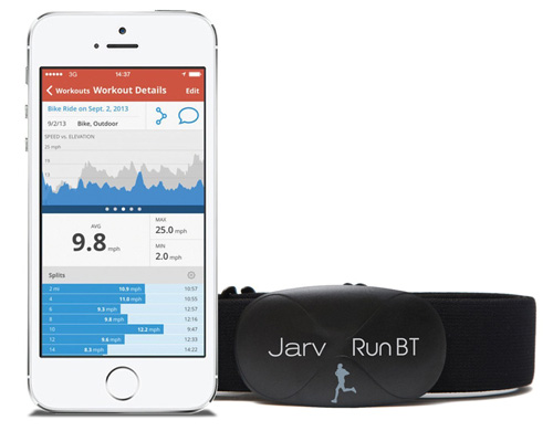 10. Jarv Premium Bluetooth® 4.0 Smart heart rate monitor for IPhone 4S / IPhone 5, 5C, 5S, 6 , 6+ / IPad Mini / new IPod Touch and other Bluetooth devices (iOS only) Black (Soft strap)