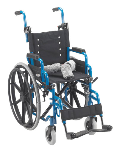 6. Drive Medical Wallaby Child's Folding Wheelchair