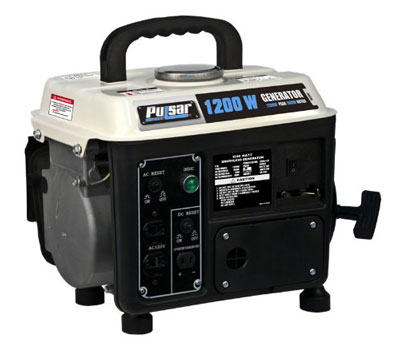 4. Pulsar PG1202S Gas Powered Generator, 1200­watt Output