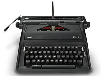 10. Royal Epoch Portable Manual Typewriter