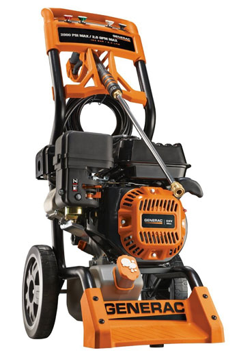 4. Generac 6596 2,800 PSI 2.5 GPM 196cc OHV Gas Powered Residential Pressure Washer