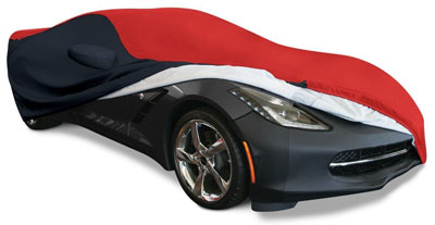 5. C7 Corvette Stingray Ultraguard Plus Car Cover - Indoor/Outdoor Protection: Red/Black
