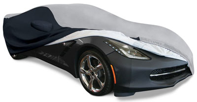 6. C7 Corvette Stingray Ultraguard Plus Car Cover - Indoor/Outdoor Protection: Grey/Black