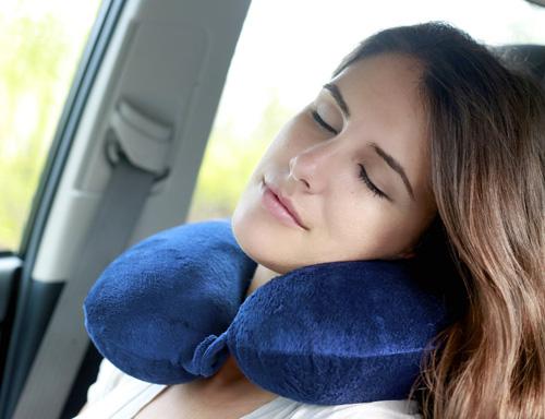 5. KohbiTM Travel Bliss Memory Foam Neck Pillow