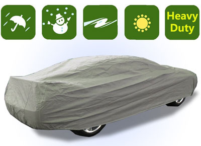 8. RockyMRanger Universal Full-size Car Cover 4 Layer Heavy Duty Waterproof Material YCC3W