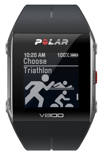 9. Polar V800 GPS Sports Watch w/ Activity Tracker & Heart Rate Monitor