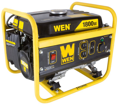 8. WEN 56180 1800­Watt Portable Generator, CARB Compliant