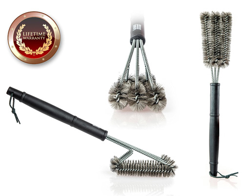 1. BBQ Grill Brush By USA Kitchen Elite, Best Grill Brush