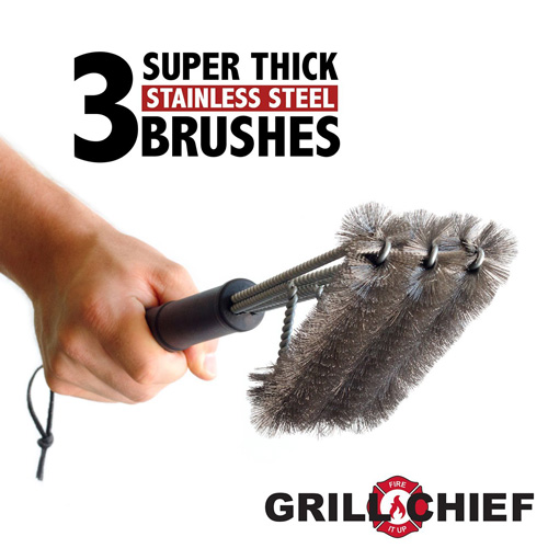 4. BBQ Grill Brush By GRILL CHIEF