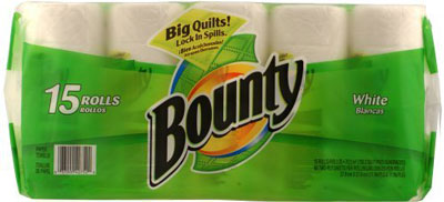 4. Bounty Paper Towels, White, 15-Count Package