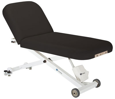 2. Earthlite Ellora Tilt Electric Lift Massage Table, Black