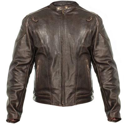 2. Xelement B7203 Mens Retro Brown Premium Speedster Motorcycle Jacket