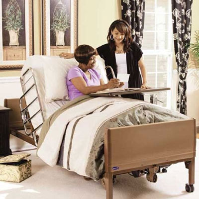 4. Full Electric Bed Package with Innerspring Mattress and Half Rails