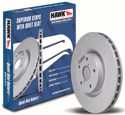 1. Hawk Performance HUS8258 Quiet Slot Brake Rotor, Best Brake Rotors for Trucks Reviews
